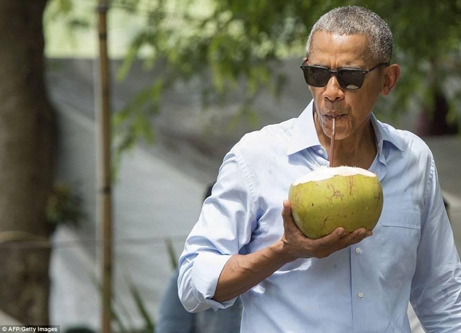 Benefícios da água de Coco - Presidente obama